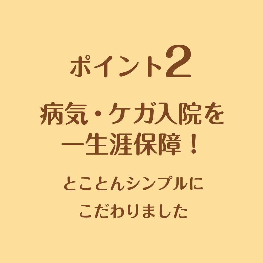 病気・ケガ入院を一生涯保障!